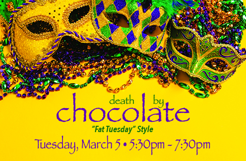 Mardi Gras Themed Death by Chocolate